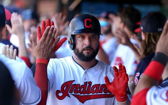 Cleveland Indians first baseman Yonder Alonso.