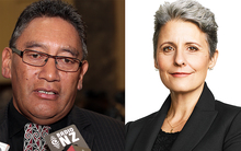 Hone Harawira and Laila Harre.