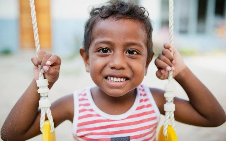 Children like this in the Kiribati could benefit from ChildFund's new partnership with the New Zealand government.