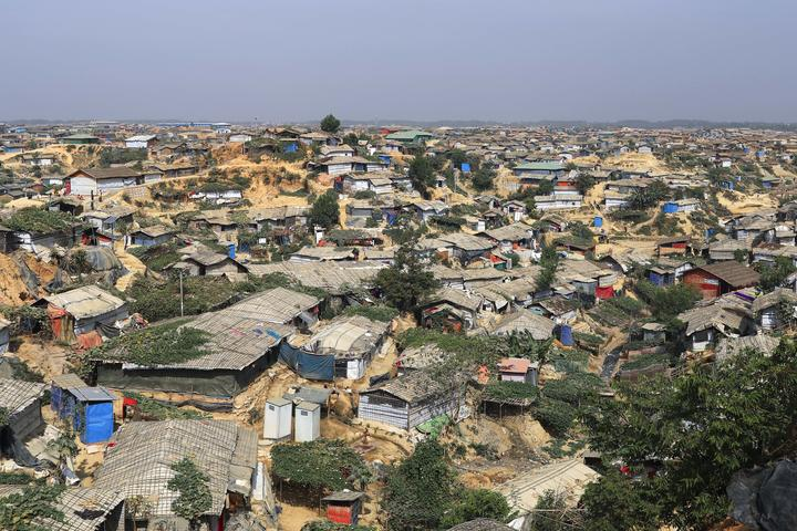 A landscape view in the Balukhali camp in Cox's Bazar Bangladesh on February 11, 2019. (Photo by Kazi Salahuddin Razu/NurPhoto)