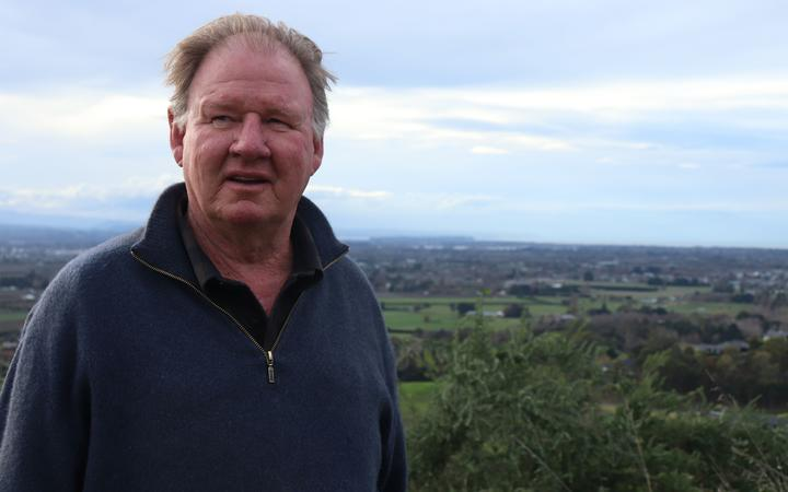 Richard Gaddum says the view has changed for the worse over the last 30 years on his Havelock North farm
