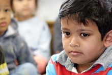 Children at Mt Roskill Kindergarten where the Child Poverty Action Group made the call for cross-party cooperation.