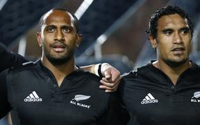 Joe Rokocoko and Jerome Kaino during their time together in the All Blacks.