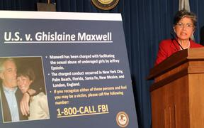 Acting US Attorney for the Southern District of New York, Audrey Strauss, speaks to the media on 2 July 2020 to announce the arrest of Ghislaine Maxwell.