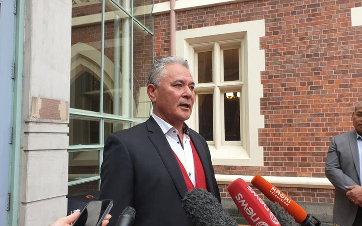 John Tamihere outside Auckland High Court.