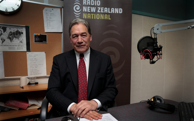 100914. Photo Diego Opatowski / RNZ. NZ First Winston Peters at RNZ Morning Report studio.