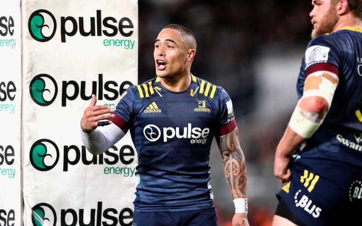Highlanders halfback Aaron Smith during the 2020 Super Rugby Aotearoa season.