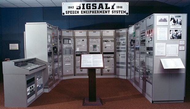 The SIGSALY exhibit at the National Cryptologic Museum, Maryland USA.