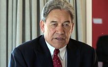 100914. Photo Diego Opatowski / RNZ. Winston Peters talking about police numbers at Hutt Gables Retirement Village.