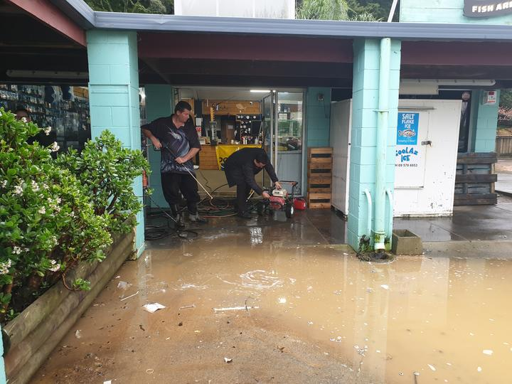 The clean up after flooding in Whangarei on 18 July.
