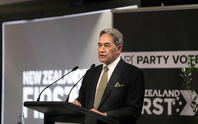 New Zealand First leader Winston Peters at his 2020 election campaign launch.