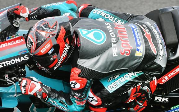 Il pilota Yamaha Fabio Quartararo.