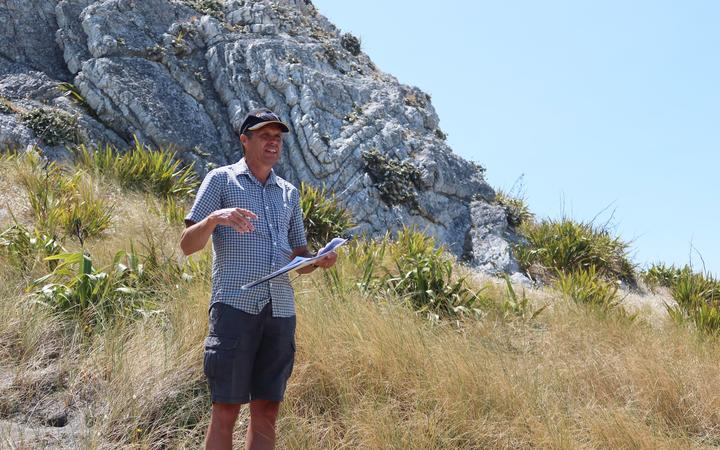 Marlborough District Council biosecurity officer Mike Aviss at the Needles earlier in 2020.