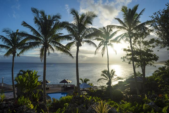 A resort in Niue