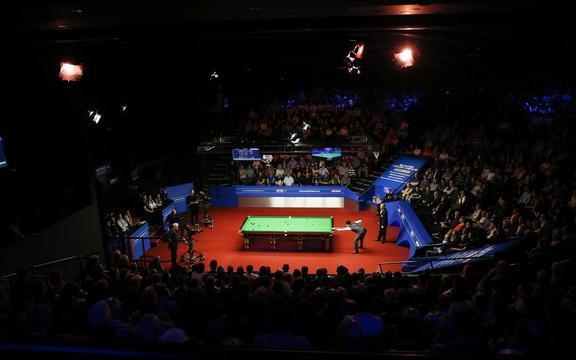 Championnats du monde de snooker au Crucible Theatre de Sheffield.