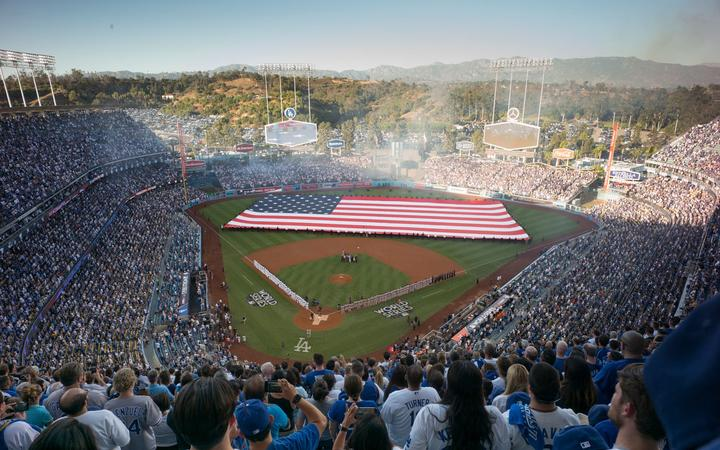 Opening ceremony of game one of the 2017 World Series.