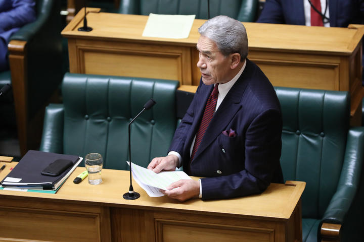Winston Peters in the House
