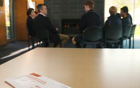 Auckland Grammar School students discuss the upcoming referendums which New Zealanders will vote on at the election.