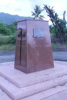 Cenotaph honouring World War victims in Rabaul, Papua New Guinea.