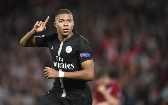 Kylian Mbappé del Paris Saint-Germain.