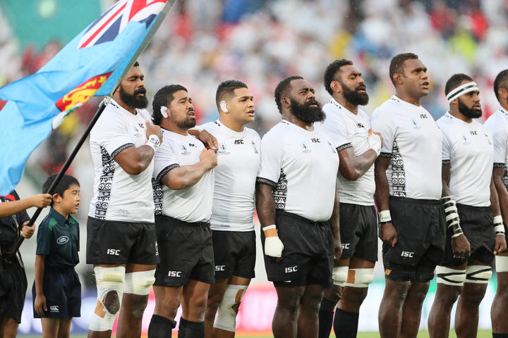 The Flying Fijians during the 2019 Rugby World Cup.