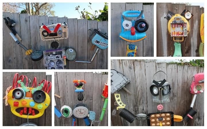 Some of the Stupid Robot Fighting creations by Te Puke's John Espin