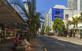 Auckland, New Zealand - January 04, 2019: People walking on Queen Street in Auckland CBD, New Zealand.