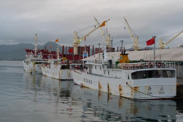 Chinese fishing boats tie up in Suva