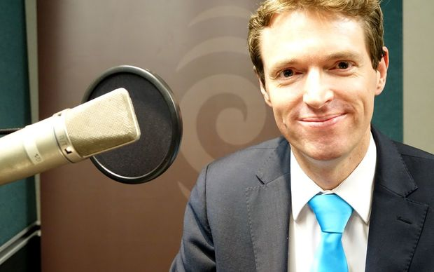 Conservative Party leader Colin Craig in Radio New Zealand's Auckland studios.