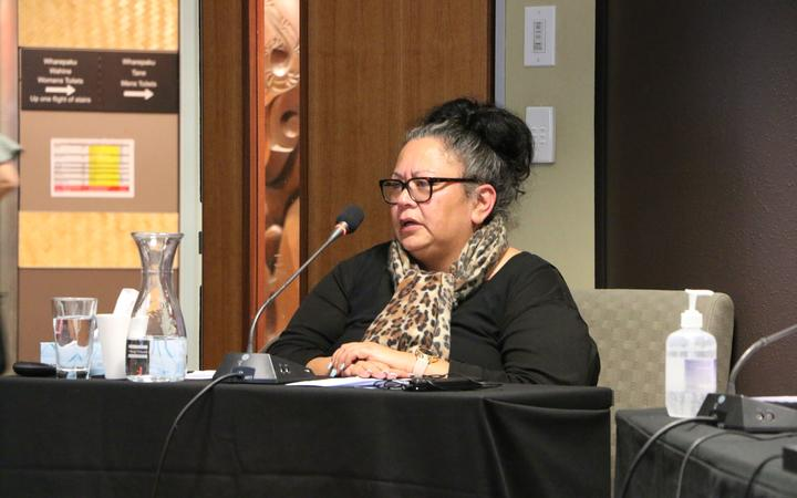 Social worker Rhonda Tautari told the Tribunal that she was there to speak for the tamariki and teenage mother's she works with - 80 percent of which are Māori.