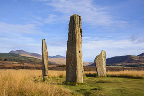Machrie Moor stone circles, Isle of Arran, North Ayrshire, Scotland.