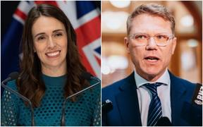 Jacinda Ardern & Paul Goldsmith.