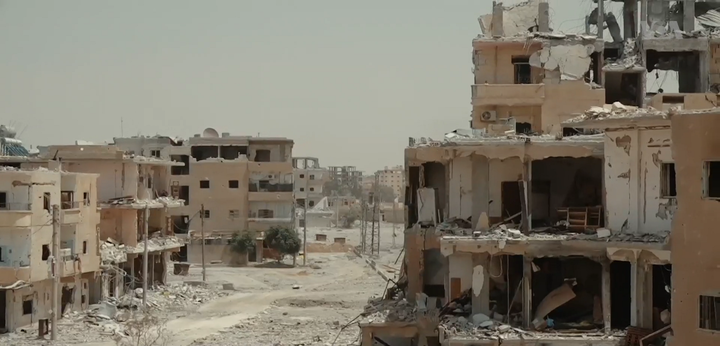 A destroyed suburb of Raqqa.