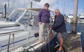 Retired Welsh doctor Chris Bates and his wife Penny want to stay in New Zealand a bit longer to remain safe from the Pacific cyclone season.