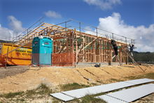 130114. Photo Diego Opatowski / RNZ. Generic Housing images. Builders working on a construction.