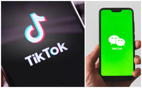 TikTok and WeChat apps