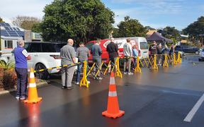 Pop-up Covid-19 test clinic at New Plymouth New World car park.