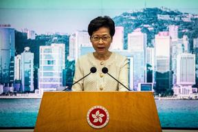 Hong Kong Chief Executive Carrie Lam and five other officials from Hong Kong and China have been sanctioned by the US.
