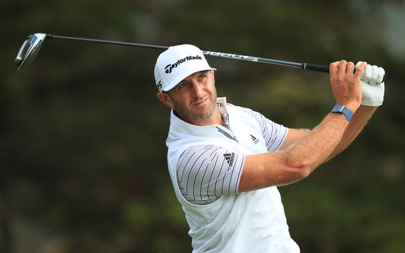 SAN FRANCISCO, CALIFORNIA - AUGUST 07: Dustin Johnson of the United States plays his shot from the 14th tee during the second round of the 2020 PGA Championship at TPC Harding Park on August 07, 2020 in San Francisco, California.   Tom Pennington/Getty Images/AFP