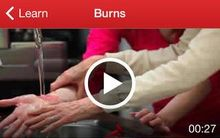 A screen shot of the free Red Cross app
