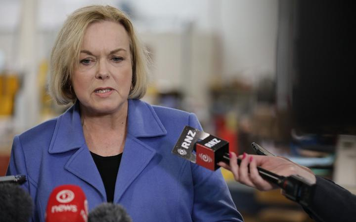 Judith Collins talking to media on 10 August 2020
