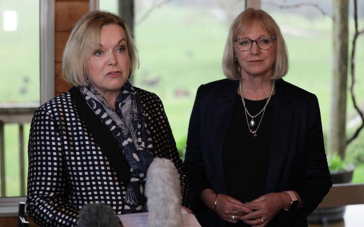 Judith Collins and Jacqui Dean