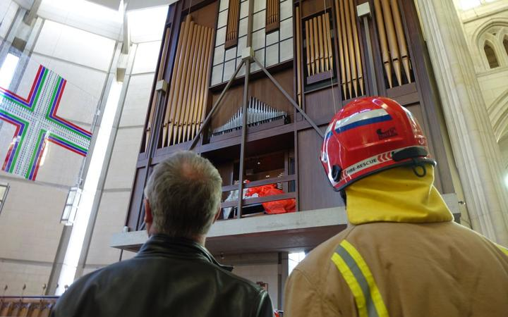 Fire at St Paul's Cathedral in Dunedin