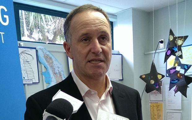 John Key talking to the media about the GCSB and poverty.