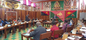 Papua New Guinea's East Sepik Provincial Assembly in deliberation.