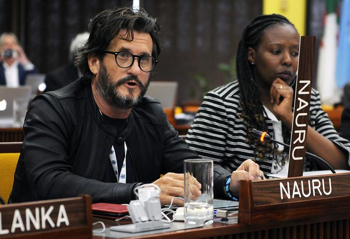 Gerard Barron, CEO dan Ketua DeepGreen Metals, yang terlihat di sini pada sesi tahunan Otoritas Dasar Laut Internasional, telah menjalin hubungan dekat dengan pemerintah Nauru.