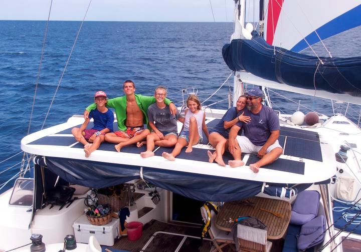 The Whitaker family aboard the Zatara.