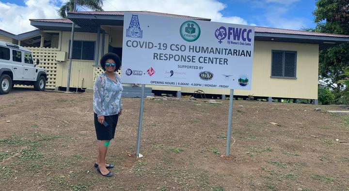 Opposition MP Lenora Qereqeretabua at the new centre in Nadi.