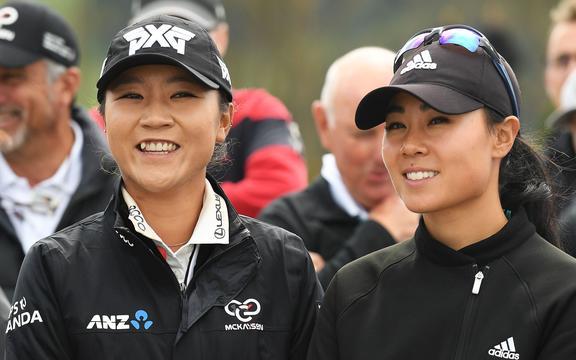 Lydia Ko and Danielle Kang in 2017.