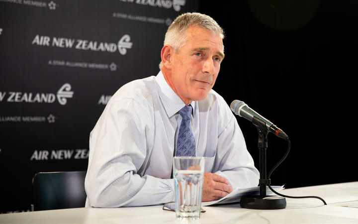 Air NZ CEO Greg Foran discusses the airlines response to Covid-19 at Air New Zealand HQ on March 20, 2020.